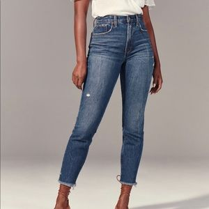 A&F High Rise Mom Jeans